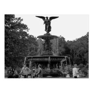 Foto da fonte de Bethesda, Central Park Cartão Postal