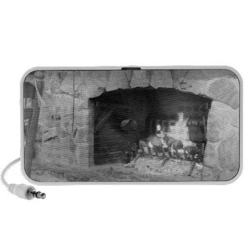 Foto da lareira da lareira de pedra caixinhas de som para laptop