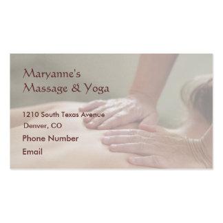 Foto da massagem de sueco - traseira (foto para cartão de visita