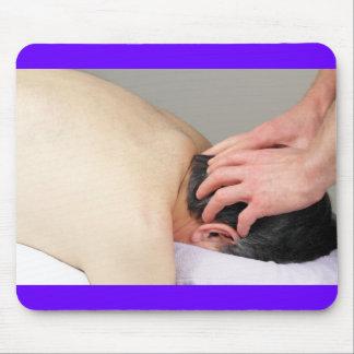Foto da massagem do escalpe mouse pads