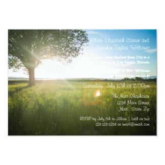 Foto da paisagem da árvore - anúncio do casamento