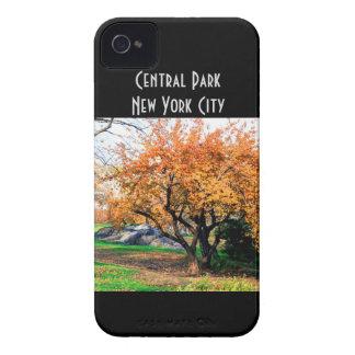 Foto da paisagem da árvore do Central Park Capa De iPhone 4 Case-Mate