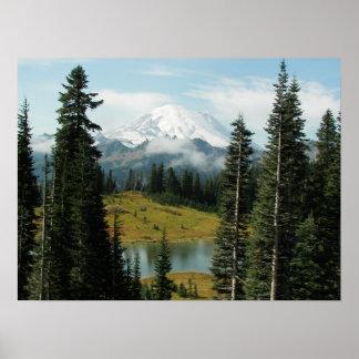 Foto da paisagem da montanha póster