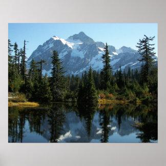 Foto da paisagem de Shuksan da montagem Poster