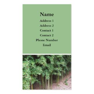 foto das árvores cartão de visita