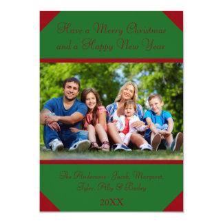Foto de Borgonha & de caçador - cartão de Natal