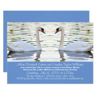 Foto de duas cisnes - anúncio do casamento