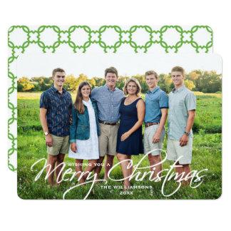 Foto de família elegante simples do roteiro do convite 12.7 x 17.78cm