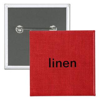 Foto de linho vermelha da textura bóton quadrado 5.08cm
