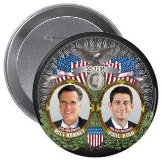 Foto de Mitt Romney Paul Ryan Bóton Redondo 10.16cm