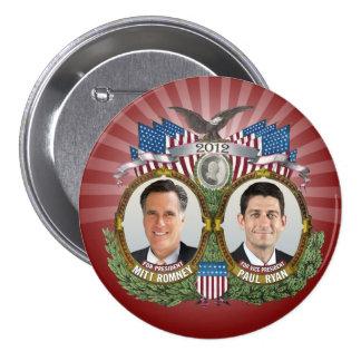 Foto de Mitt Romney Paul Ryan Bóton Redondo 7.62cm