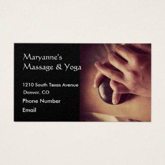 Foto de pedra quente da massagem cartão de visitas