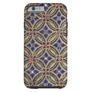 Foto de vidro Marrocos da pedra do teste padrão do Capa Tough Para iPhone 6