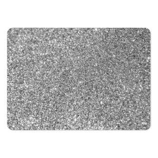 Foto do brilho da prata do falso cartão de visita grande
