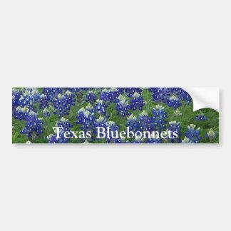 Foto do campo dos Bluebonnets de Texas Adesivo Para Carro