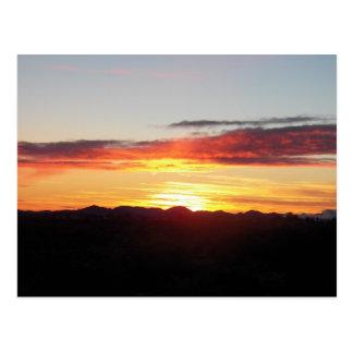 foto do céu na caminhada cartão postal