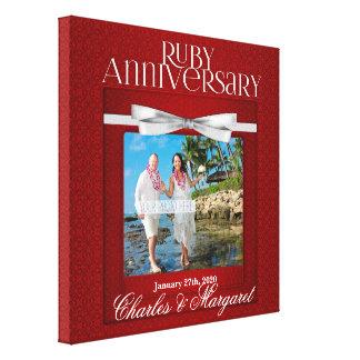 foto do costume do aniversário de casamento do impressão em tela