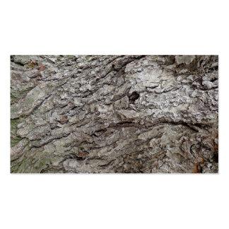 Foto do latido de árvore cartão de visita