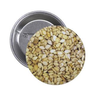 Foto do macro da semente de sésamo bóton redondo 5.08cm