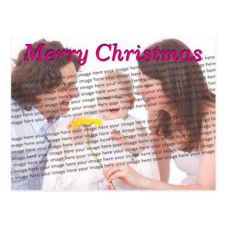 Foto do Natal da família Cartão Postal
