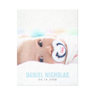 Foto do nome do bebê azul