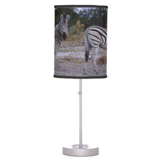 Foto do olhar duas vezes da zebra abajur de mesa