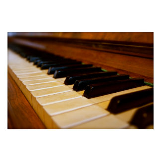 Foto do piano poster