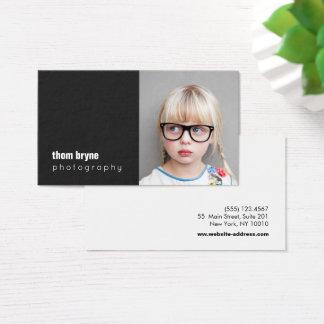 Foto do quadrado preto do fotógrafo da fotografia cartão de visitas