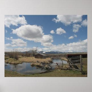 Foto do rancho de Grant Kohrs Impressão