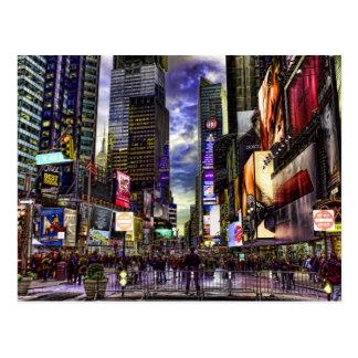 Foto do Times Square em HDR Cartão Postal