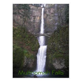 Foto do viagem das quedas de Multnomah Cartão Postal
