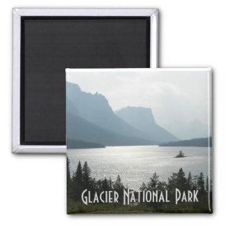 Foto do viagem do parque nacional de geleira ímã quadrado