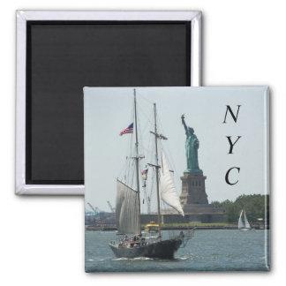 Foto do viagem do porto da Nova Iorque Ímã Quadrado