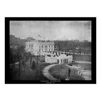 Foto do vintage - a casa branca poster