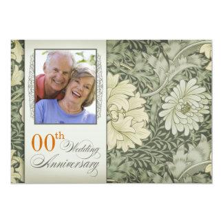 foto do vintage do aniversário de casamento convite 12.7 x 17.78cm