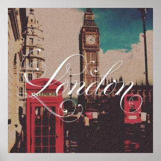 Foto do vintage do marco de Londres Poster