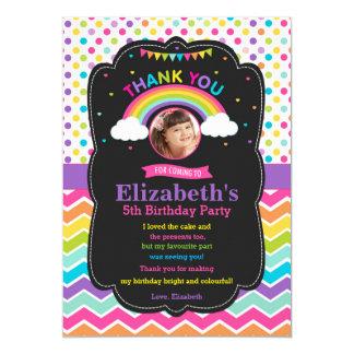 Foto dos cartões de agradecimentos da festa de convite 12.7 x 17.78cm