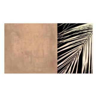 foto em folha de palmeira do original do modelo de cartao de visita