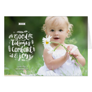 Foto festiva do feriado da caligrafia da cartão comemorativo