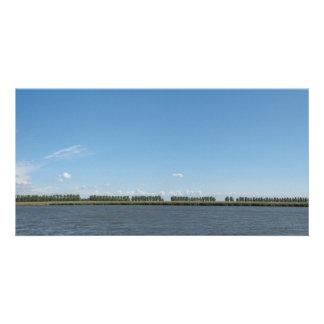 Foto holandesa do panorama da paisagem do po'lder cartão com foto