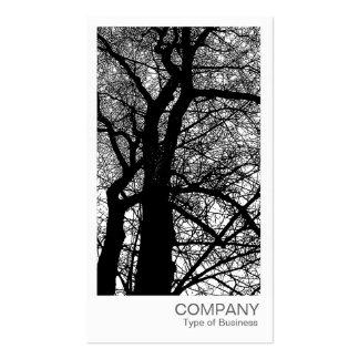 Foto imediata - árvore alto contraste no inverno cartão de visita