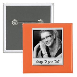 foto imediata - photoframe - na laranja bóton quadrado 5.08cm