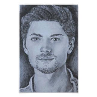 Foto Impressão do desenho do retrato de Amadeus