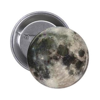 Foto impressionante da lua bóton redondo 5.08cm