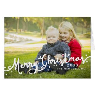 Foto inclinada Feliz Natal do feriado do roteiro Cartão Comemorativo