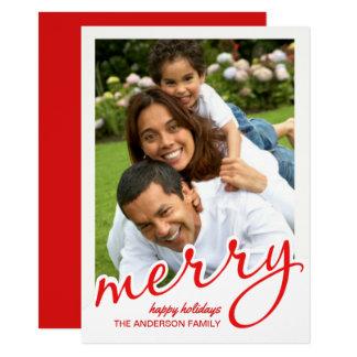 Foto indicada por letras corajosa do Natal do Convite 11.30 X 15.87cm