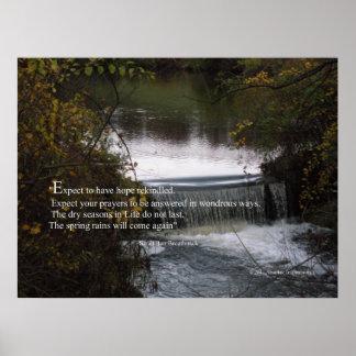 Foto inspirada com citações na esperança poster