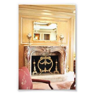 foto interior elegante da lareira
