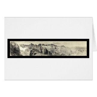 Foto justa 1921 de Colorado da geleira Cartão Comemorativo
