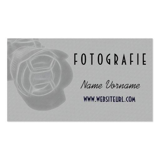 foto kamera cartao de visita